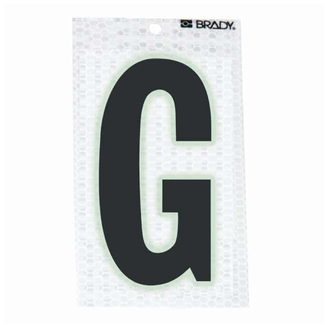 Brady Glow-In-The-Dark/Ultra Reflective Letter: G Character Height: 7.62cm