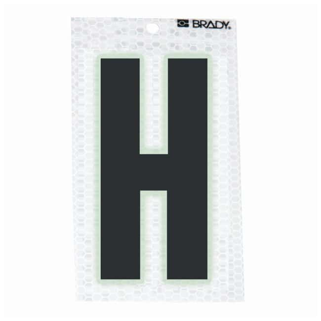 Brady Glow-In-The-Dark/Ultra Reflective Letter: H Character Height: 5.08cm