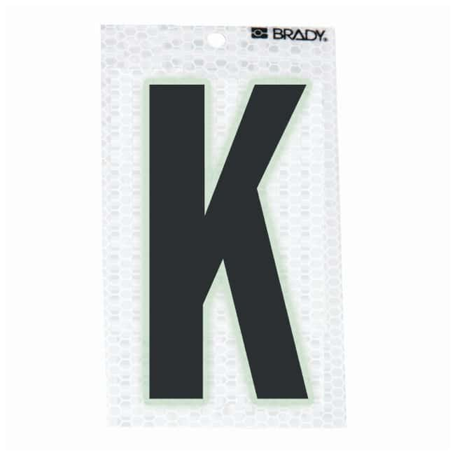 Brady Glow-In-The-Dark/Ultra Reflective Letter: K Character Height: 5.08cm