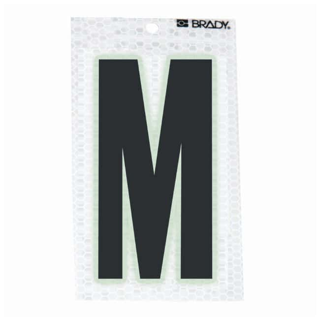 Brady Glow-In-The-Dark/Ultra Reflective Letter: M Character Height: 5.08cm