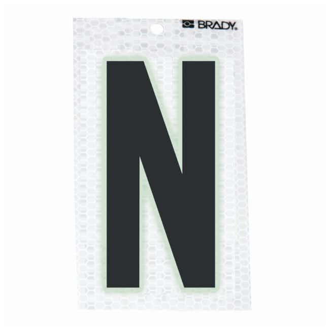 Brady Glow-In-The-Dark/Ultra Reflective Letter: N Character Height: 7.62cm