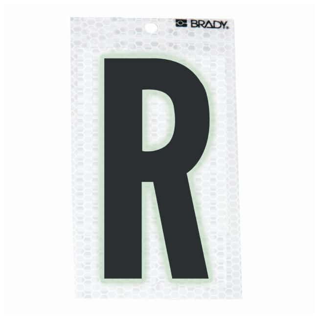 Brady Glow-In-The-Dark/Ultra Reflective Letter: R Character Height: 12.7cm