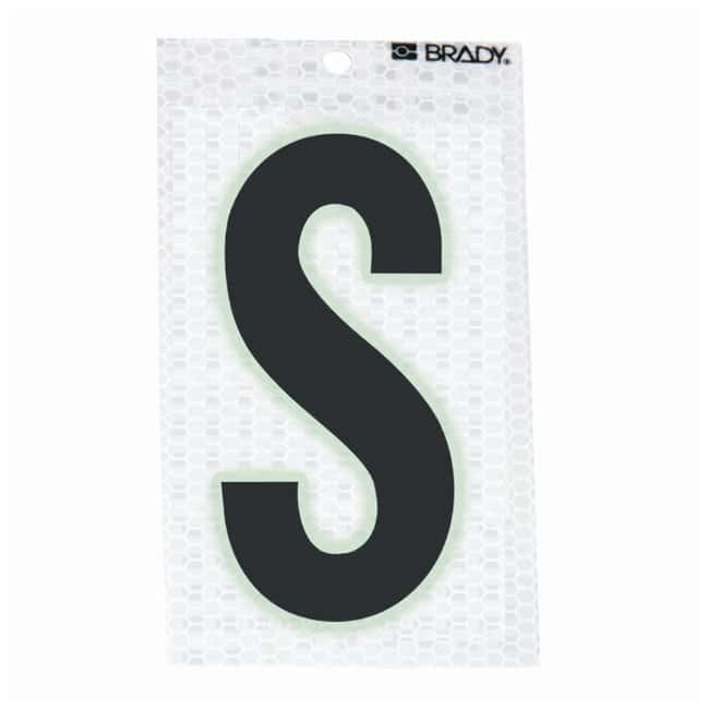Brady Glow-In-The-Dark/Ultra Reflective Letter: S Character Height: 12.7cm