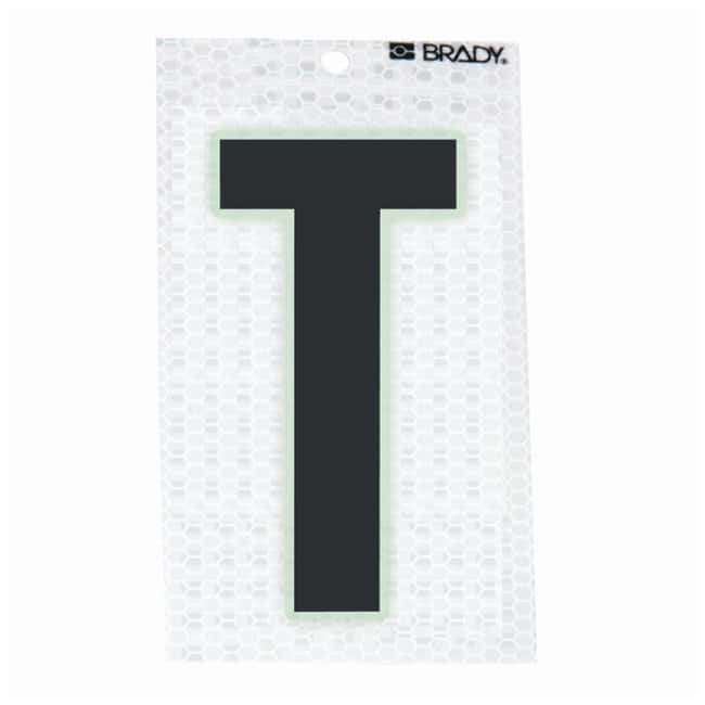 Brady Glow-In-The-Dark/Ultra Reflective Letter: T Character Height: 7.62cm