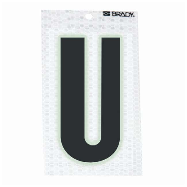 Brady Glow-In-The-Dark/Ultra Reflective Letter: U Character Height: 12.7cm