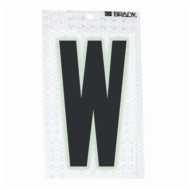 Brady Glow-In-The-Dark/Ultra Reflective Letter: W Character Height: 5.08cm