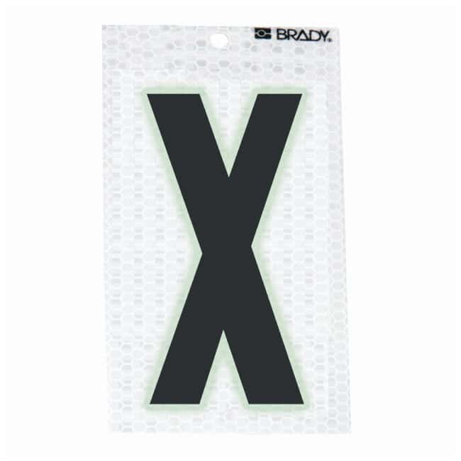 Brady Glow-In-The-Dark/Ultra Reflective Letter: X Character Height: 12.7cm