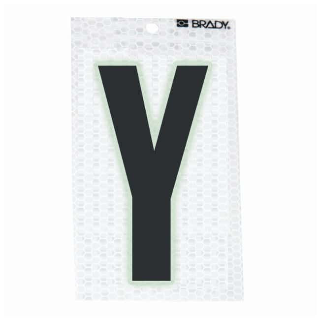 Brady Glow-In-The-Dark/Ultra Reflective Letter: Y:Gloves, Glasses and Safety:Facility
