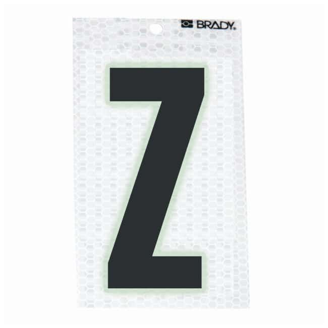 Brady Glow-In-The-Dark/Ultra Reflective Letter: Z:Gloves, Glasses and Safety:Facility