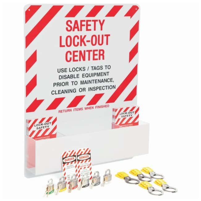Brady Safety Lockout Center Mechanical risk lockouts; Acrylic; 4.5 in.