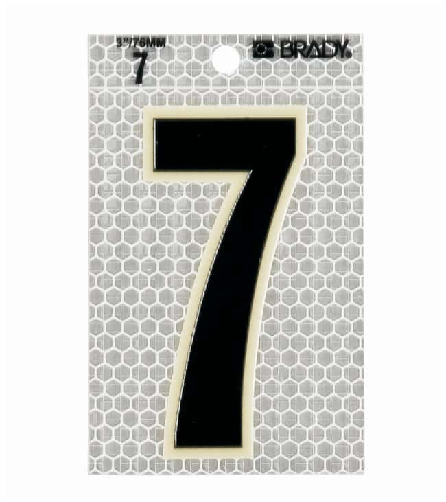 Brady Glow-In-The-Dark/Ultra Reflective Number: 7:Gloves, Glasses and Safety:Facility