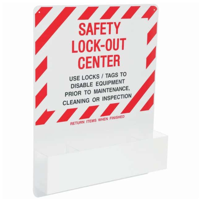 Brady Safety Lockout Center, Board Only Red on white; 1/Board; Acrylic;
