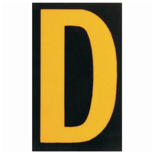 Brady Bradylite Ultra Reflective Letter: D Text legend: D:Gloves, Glasses