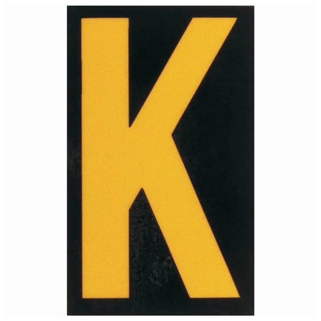 Brady Bradylite Ultra Reflective Letter: K Text legend: K:Gloves, Glasses