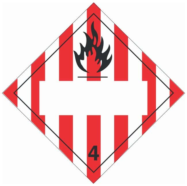 Brady DOT Vehicle Placards: (Flammable picto w/ blank box and red/white