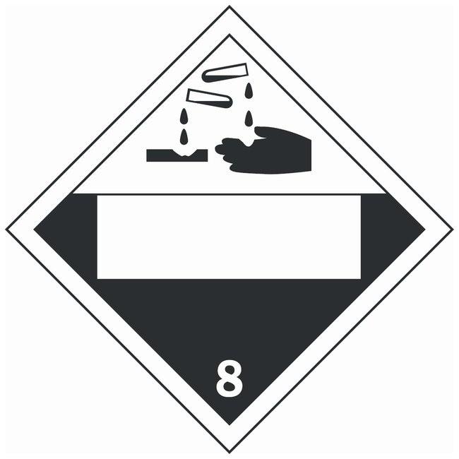 Brady Fiberglass Warning Sign: No Text black on red Black on white; Non-adhesive;