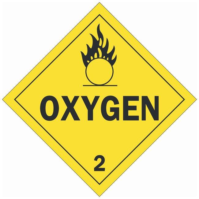 Brady DOT Vehicle Placards: OXYGEN 2:Gloves, Glasses and Safety:Facility