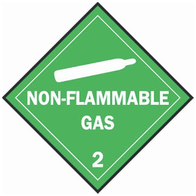 Brady Standard Vehicle Placards: NON-FLAMMABLE GAS 2:Gloves, Glasses and