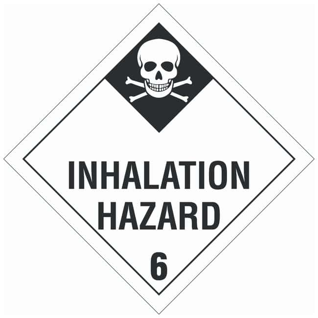 Brady DOT Vehicle Placards: INHALATION HAZARD 6:Gloves, Glasses and Safety:Facility
