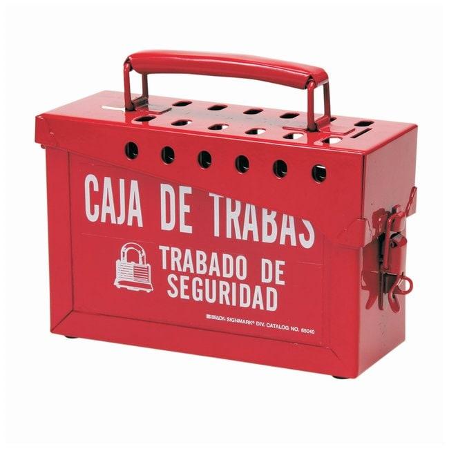 Brady Portable Metal Lock Box, Spanish Powder-coated steel; 3.5 in. x 9