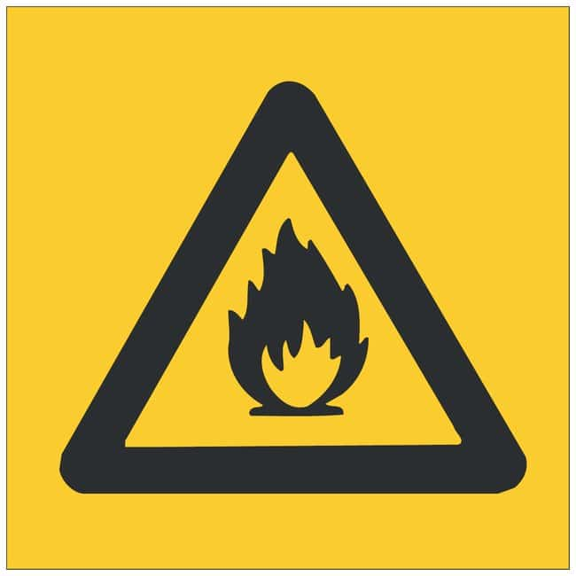 Brady Aluminum Warning Sign: No Text Black on yellow; 14 in. x 10 in. x