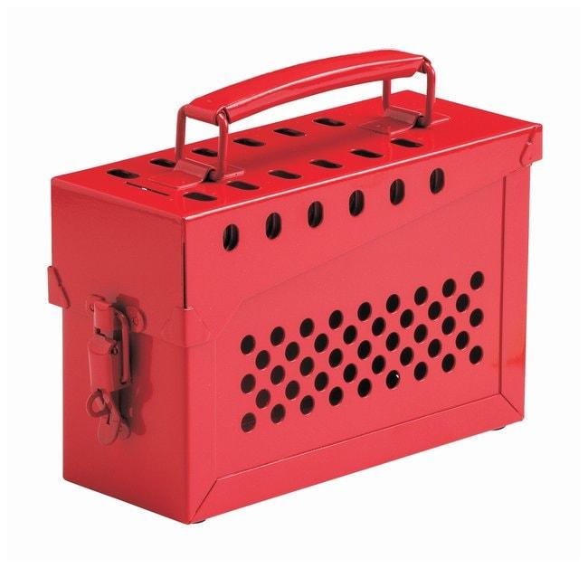 Brady Portable Metal Lock Box Powder-coated steel; 3.5 in. x 9 in. x 6