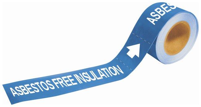 Brady Self-Sticking Pipe Marker Labels: ASBESTOS FREE INSULATION:Gloves,