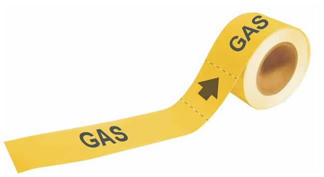 Brady Self-Sticking Pipe Marker Labels: GAS:Gloves, Glasses and Safety:Facility