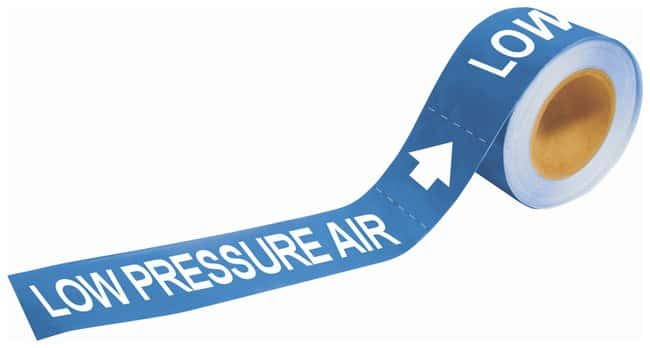 Brady Self-Sticking Pipe Marker Labels: LOW PRESSURE AIR:Gloves, Glasses