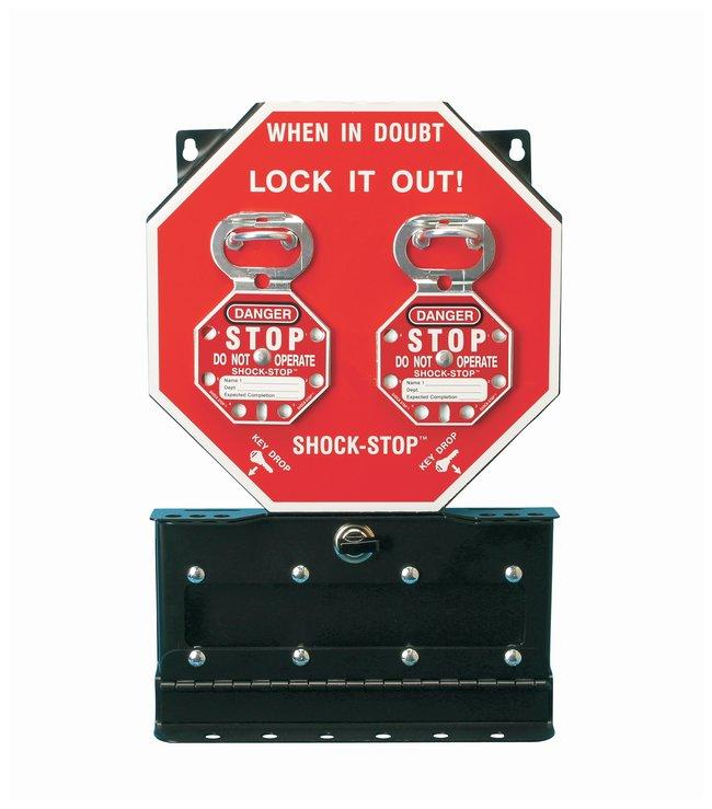 Brady SHOCK-STOP Group Lock Box 1/Lock box; 2.5 in. x 10.5 in. x 16.5 in.:Gloves,