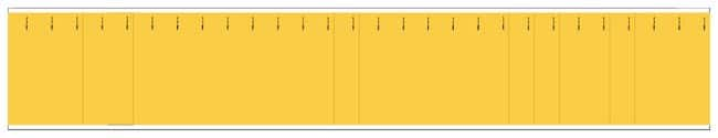 Brady Semiconductor and Chemical Pipe Markers: (blank) Color: Yellow:Gloves,