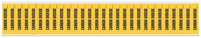 Brady Semiconductor and Chemical Pipe Markers: CARBON DIOXIDE:Gloves, Glasses