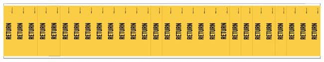Brady Semiconductor and Chemical Pipe Markers: RETURN Color: Black on Yellow:Gloves,