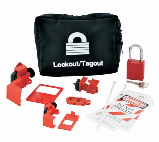 Brady Lockout Pouch Kit with Lock Canvas; 2 in. x 7 in. x 6 in.:Gloves,