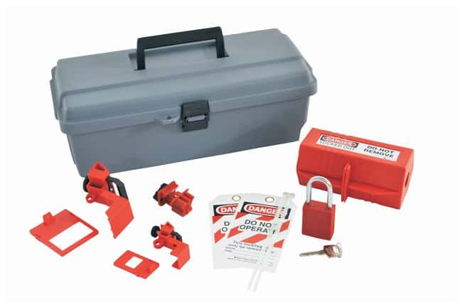 Brady Lockout Toolbox With Components Polyethylene; 6.5 in. x 14 in. x