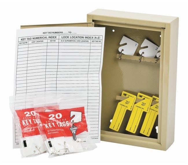 Brady 30-Key Cabinet Key, cabinet; Steel; 2.625 in. x 8 in. x 12.125 in.:Gloves,