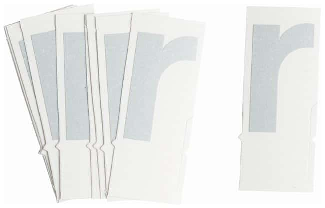 Brady Reflective Quik-Lite Ten Packs - Printed Letter Lower Case: r:Gloves,