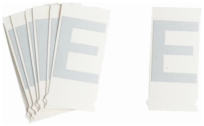 Brady Reflective Quik-Lite Ten Packs - Printed Letter Upper Case: E:Gloves,
