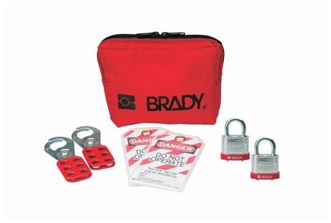 Brady Personal Padlock Pouch with Brady Steel Padlocks Steel body; 0.875