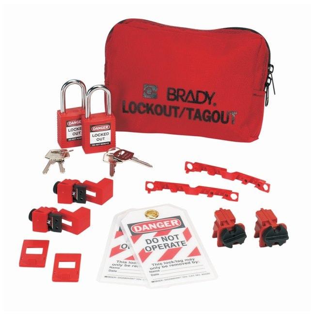 Brady 120/277V Breaker Lockout Pouch with Brady Safety Padlocks & Tags