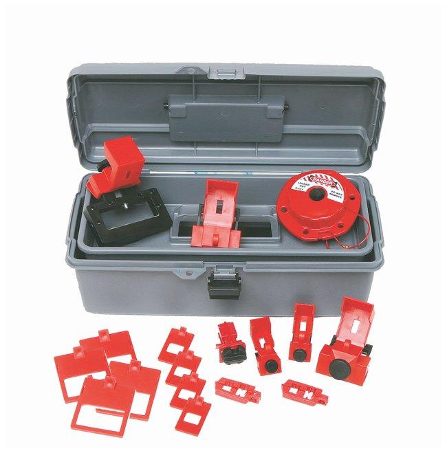 Brady Breaker Lockout Toolbox Kit Polyethylene; 6.5 in. x 14 in. x 5.25