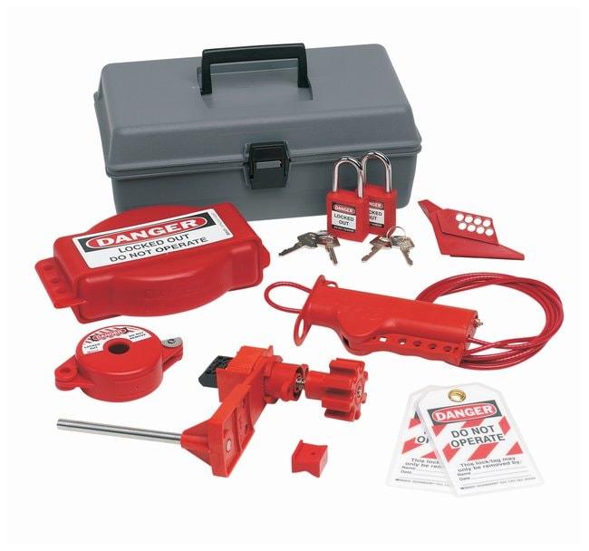 Brady Valve Lockout Toolbox Kit w/ Brady Safety Padlocks & Tags Polyethylene;