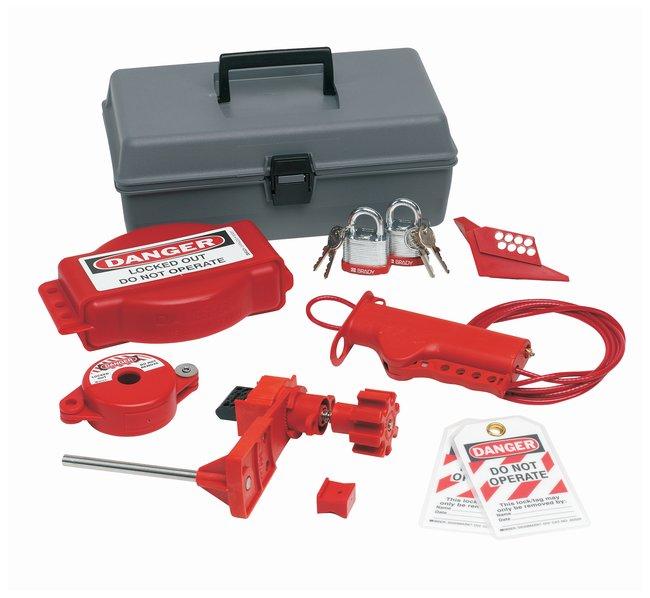 Brady Valve Lockout Toolbox Kit w/ Brady Steel Padlocks & Tags Polyethylene;