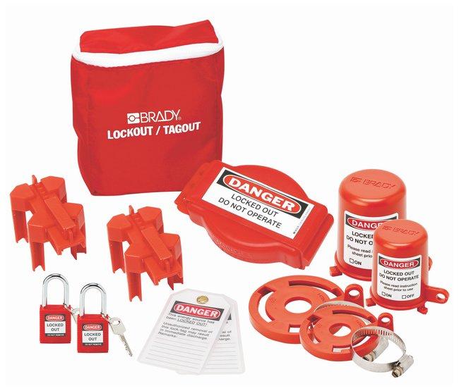 Brady Valve Lockout Pouch Kit with Brady Safety Padlocks & Tags Valve Lockout