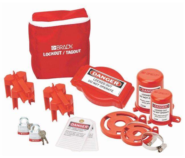 Brady Valve Lockout Pouch Kit with Brady Steel Padlocks & Tags Valve Lockout