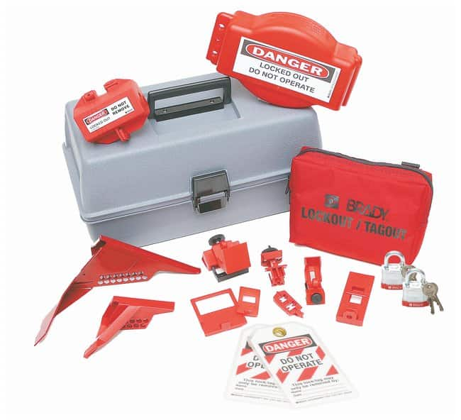 Brady Combination Lockout Toolbox with Brady Steel Padlocks & Tags Polyethylene;