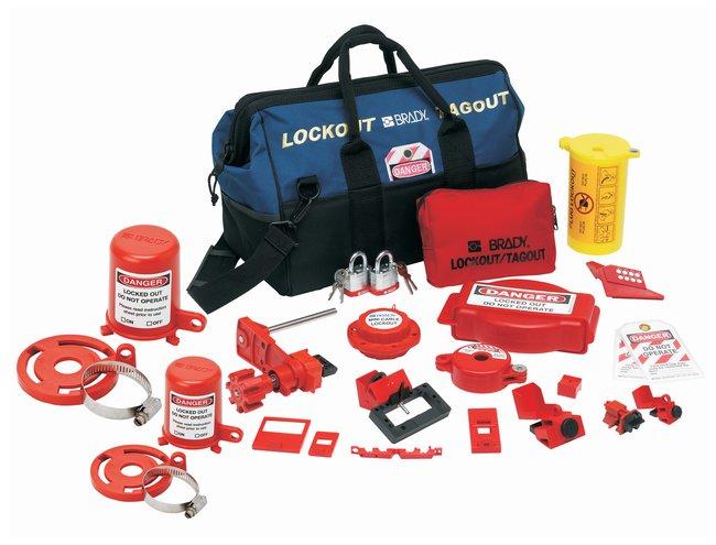 Brady Combination Lockout Duffel with Brady Steel Padlocks & Tags Polyester;