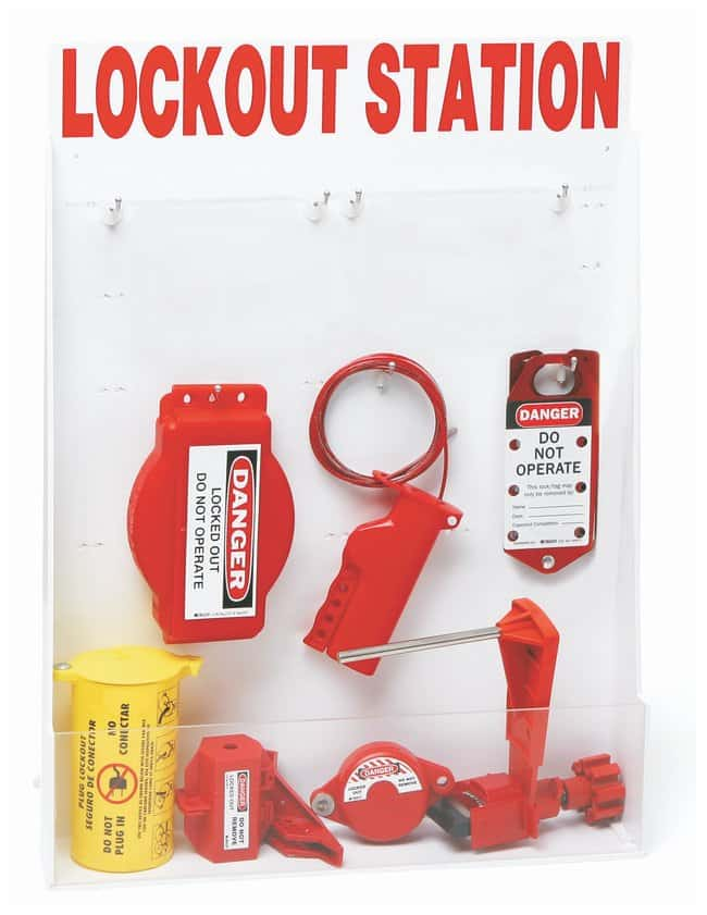 Brady Large Enclosed Lockout Station with Components Polystyrene; 5 in.
