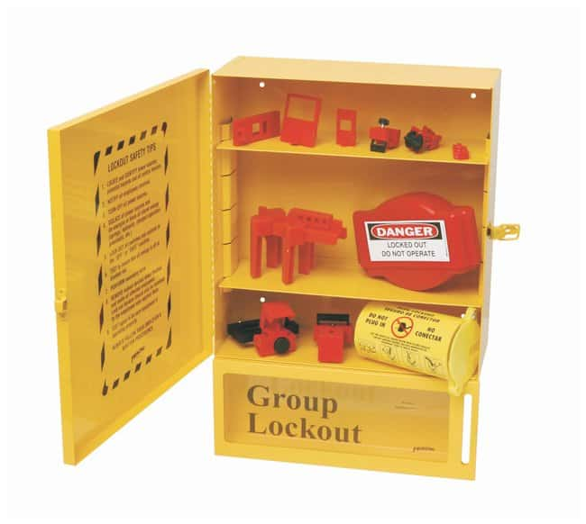 Brady Combined Lockout & Lock Box Station With Components Powder-coated