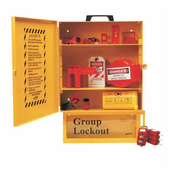 Brady Combined Lockout & Lock Box Station With Components, 6 Brady Safety